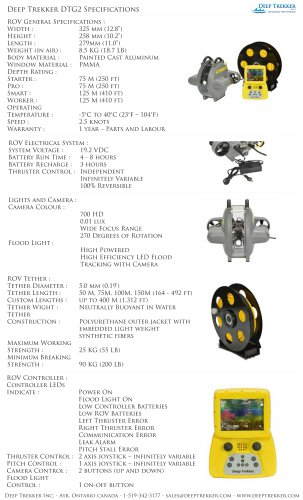 Deep Trekker DTG2 Specifications