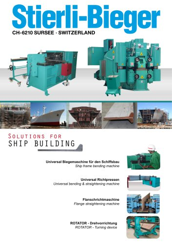 Solutions for SHIP BUILDING