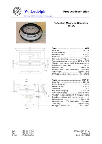 Magnetic Reflection Compass M45A