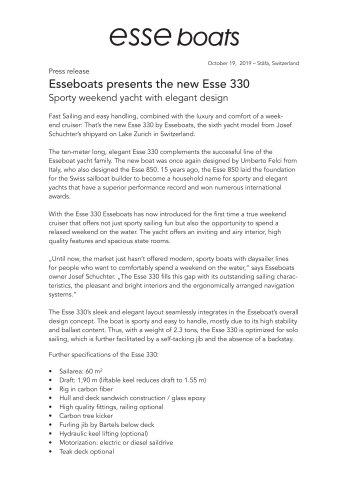 new Esse 330