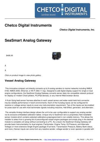 SeaSmart Analog Gateway