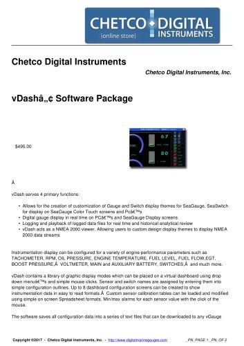 vDash™ Software Package
