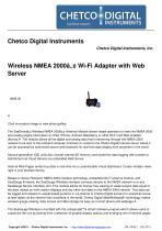 Wireless NMEA 2000™ Wi-Fi Adapter with Web Server