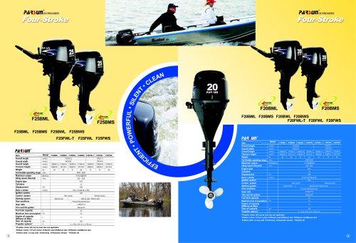 PARSUN 4-stroke outboard motor 8-25hp