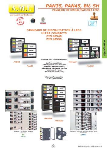 PAN35, PAN45, BV, SH PANNEAUX DE SIGNALISATION À LEDS