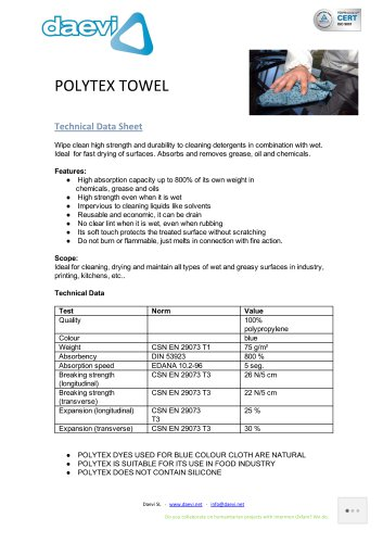 Polytex wet cleaning towel