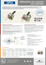 DFM Débitmètres de carburant avec interface
