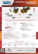 DFM Marine débitmètre de carburant