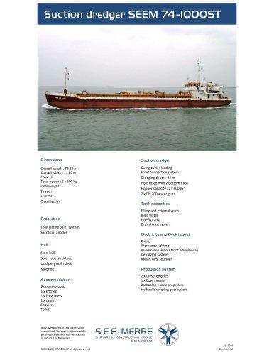 Suction dredger SEEM 74-1000ST