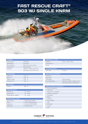 Fast Rescue Craft 903 WJ single KNRM